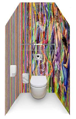 wc hokje met ontwerp
